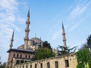 Blue mosque Sultan Ahmed in Istanbul, Turkey