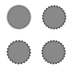 Set of vector starburst, sunburst badges. Grey color. Vintage  labels, stickers.  A collection of different types icon.