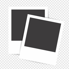 Photo frame on a transparent background. Blank photo frames