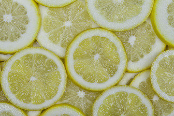 Organic lemons cut background