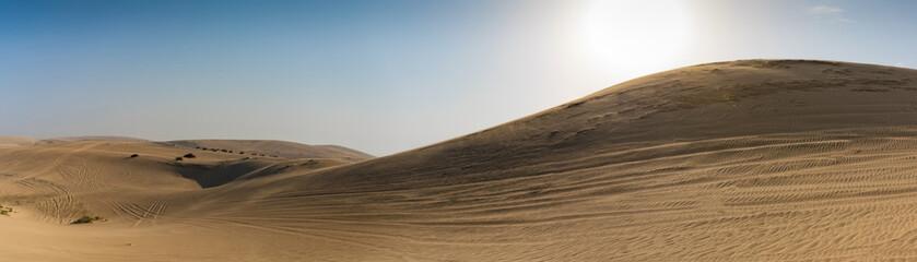 Dünen in der Wüste von Katar nahe der Hauptstadt Doha