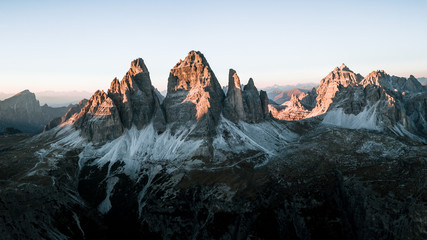 Tre Cime de Lavaredo - mountains in sunset light