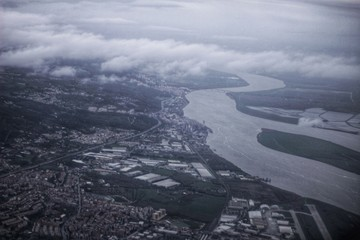 Aerial view of Tagus River