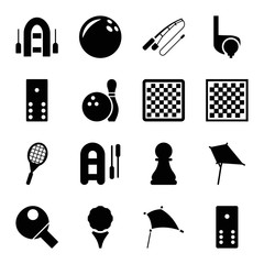 Hobby icons. set of 16 editable filled hobby icons