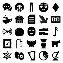 Art icons. set of 25 editable filled art icons