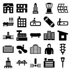Urban icons. set of 25 editable filled urban icons
