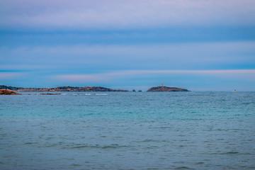 Vu de la plage de la Coudoulière à Six-Fours-les-Plages