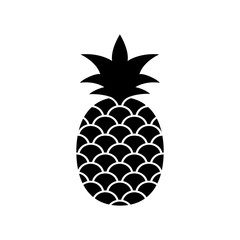 Pineapple vector icon on white background.