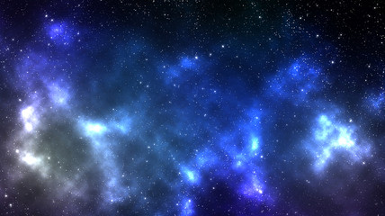 Night sky background with a nebula full of stars in outer space