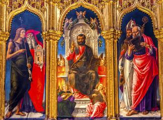 Vivarni Saint Mark Enthroned Painting Santa Maria Gloriosa de Frari Church Venice Italy