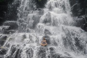 Lotus pose at the Yoga Waterfalls