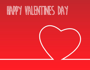 heart background for valentines day concept in vector