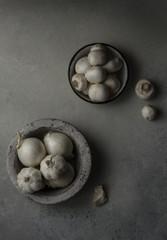 Onion And mushrooms