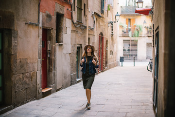 woman exploring the streets of the city