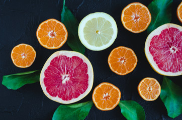 Mixed citrus background