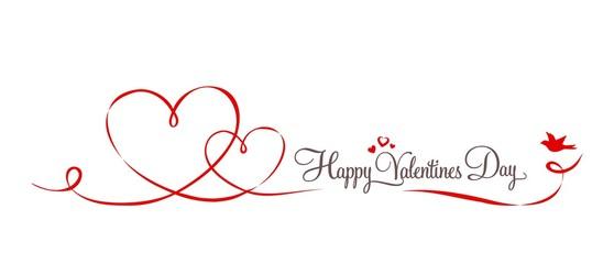 Herzen Schleife Valentinstag