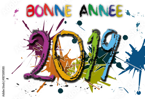 Carte de v ux bonne ann e 2019 stock image and royalty free vector files on - Images bonne annee gratuite ...