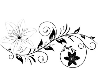 Floral. Vector illustration.