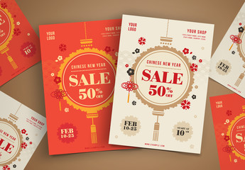 Chinese New Year Sale Flyer Layouts