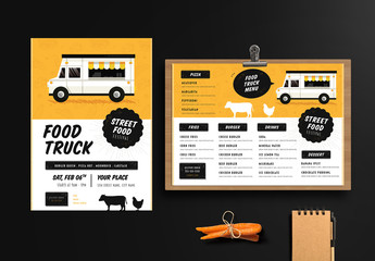 Food Truck Festival Menu and Poster Layout