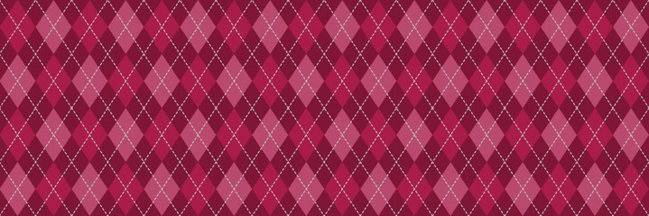 Red and Pink Argyle Banner