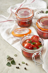 Fresh pickled cherry tomatoes