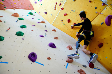 No limits for disabled climber