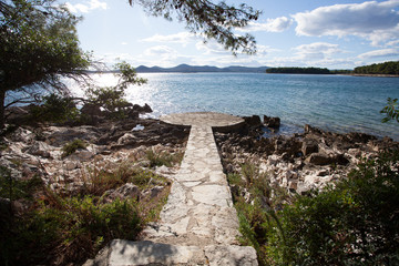 stone path to the sea