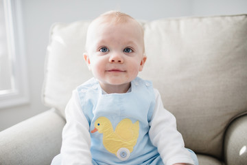 portrait of a sweet 10 month old baby