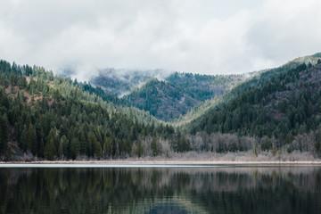 Rural Mountain Lake in Idaho