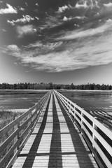 Wooden Boardwalk over a River