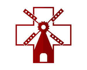 medical windmill barn farmhouse dutch image vector icon silhouette
