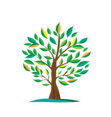 Environment isolated green tree icon