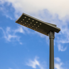 Black LED street light