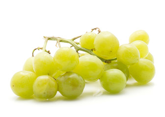 Green grape one bunch (Early Sweet or Grapaes variety) isolated on white background.