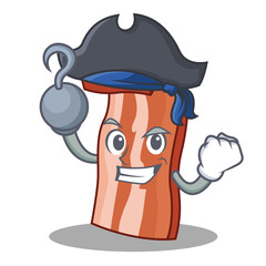 Pirate bacon character cartoon style