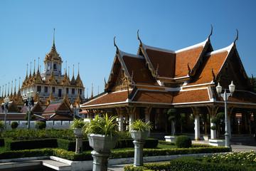 The Loha Prasat or Metal Castle in Wat Ratchanatdaram Woravihan, Thailand.