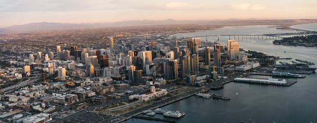 San Diego skyline from bird's eye view
