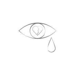 tears from a broken heart icon. Web element. Premium quality graphic design. Signs symbols collection, simple icon for websites, web design, mobile app, info graphics