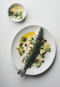 Roasted Bream with lemon and spices