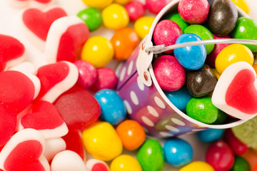 Nuts in multicolored glaze jelly beans jujube jelly candy sweets