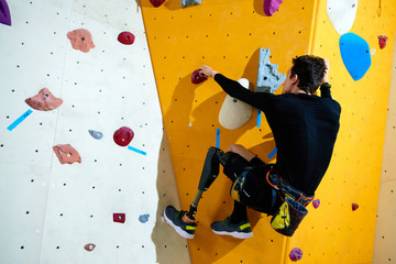 Overcoming obstacles in climbing center