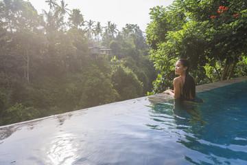 At the pools edge