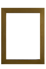 Vintage empty wooden frame isolated on white background