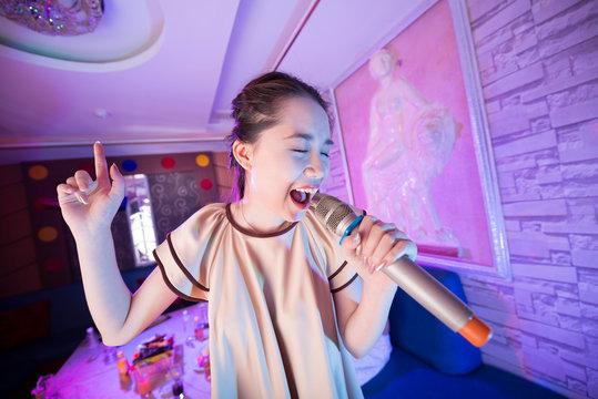 Performing girl