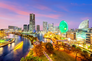 Fotomurales - Cityscape of  Yokohama in Japan