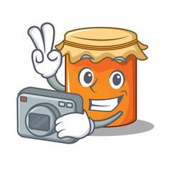 Photographer jam mascot cartoon style