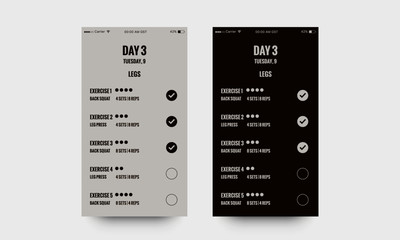 Workout App UX UI Design for Exercise