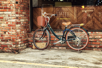 Photo sur Aluminium Bicycle on the city street