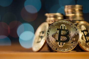 Stacked bitcoin columns